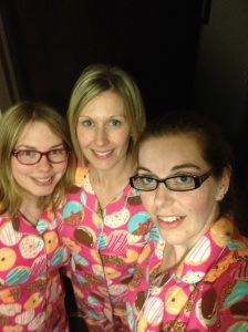 I officially dub ourselves the Pajama Pacers! (get it?)